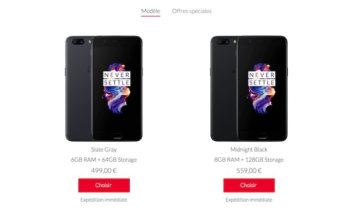 OnePlus 5 Disponible Achat