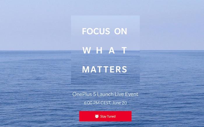 OnePlus 5 Presentation 20 Juin 2017