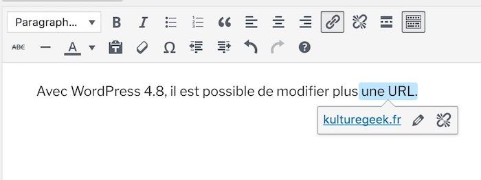 WordPress 4.8 Changer URL