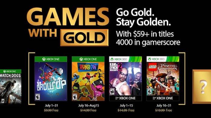 Xbox Live Jeux Offerts Juillet 2017