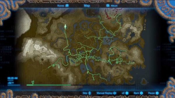 Zelda BotW Map Path 600x337
