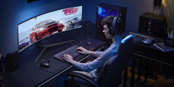 Samsung Moniteur Incurve Gamer 600x300
