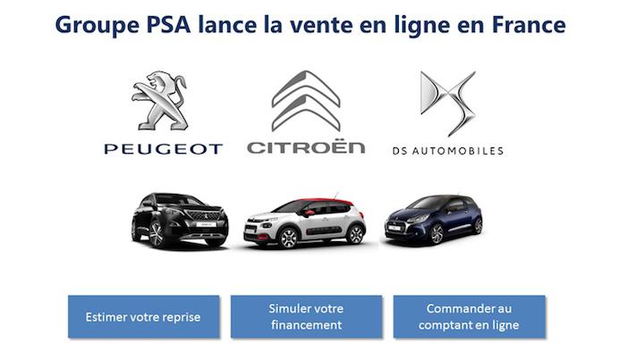PSA Peugeot Citroen Vente Voiture Internet