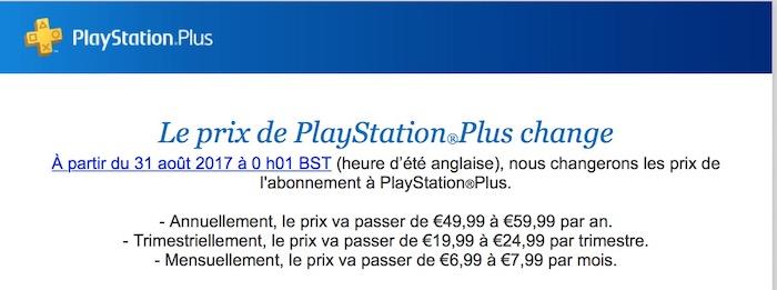 PlayStation Plus Hausse De Prix 2017