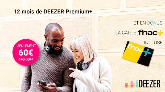 Promo Deezer Carte Fnac Juillet 2017