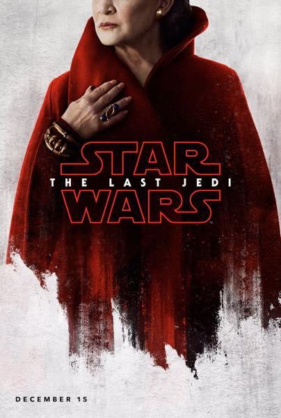 Star Wars Les Derniers Jedi Affiche Leia