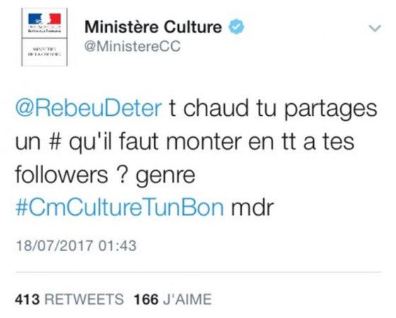 Twitter En Folie Ministere De La Culture 1 560x450