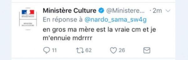 Twitter En Folie Ministere De La Culture 600x192