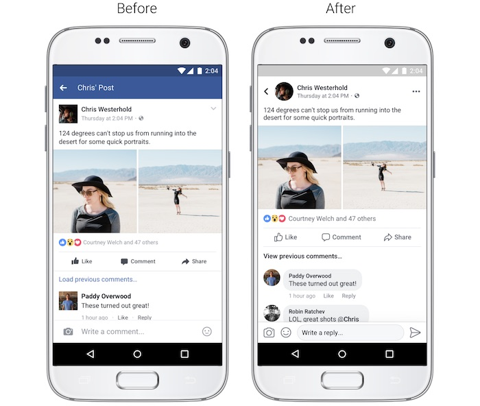 Facebook Design Revu Fil Actualite Application Mobile Aout 2017 2
