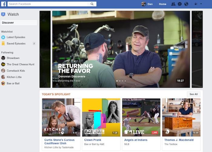 Facebook Watch Programmes Video