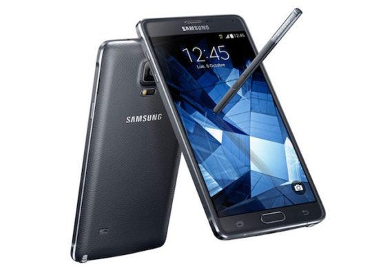 Galaxy Note 4 Avant Arriere Noir