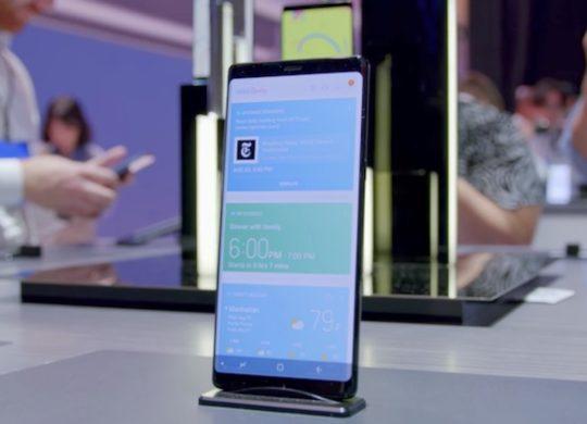 Galaxy Note 8 Avant Ecran Profil Droite