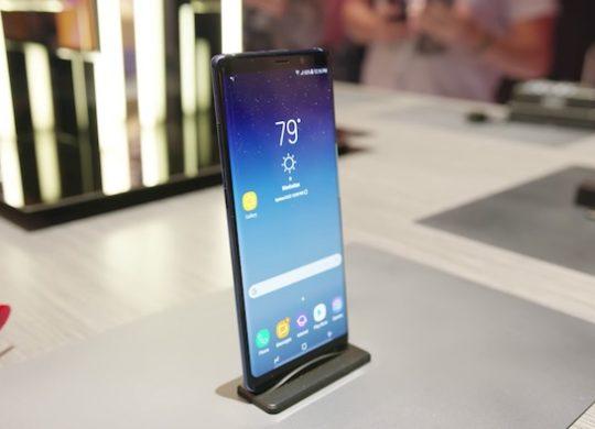 Galaxy Note 8 Avant Ecran Profil Gauche