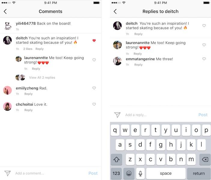 Instagram Commentaires Conversations