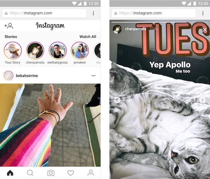 Instagram Stories Depuis Web