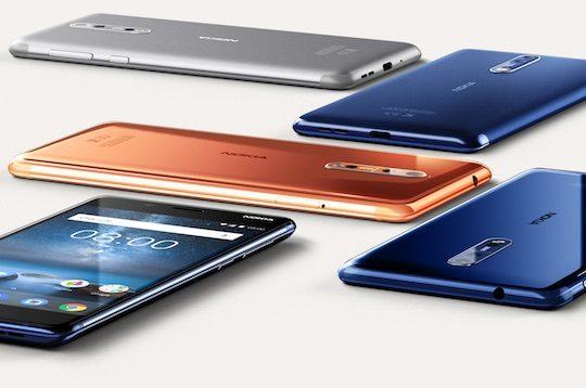 Nokia 8 Arriere Coloris