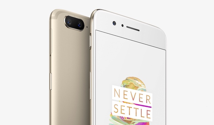 OnePlus 5 Avant Arriere Or