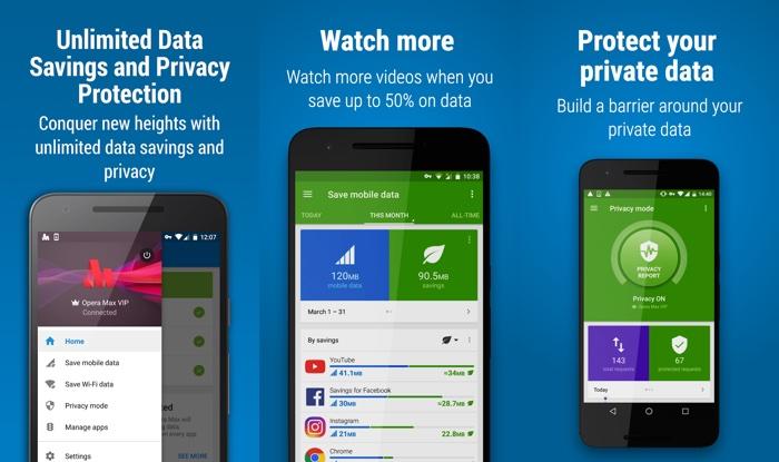 Opera Max Application Android