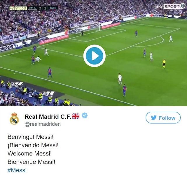 Piratage Twitter Real Madrid Messi
