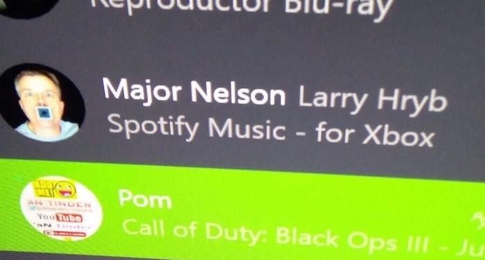 Spotify Xbox One Major Nelson