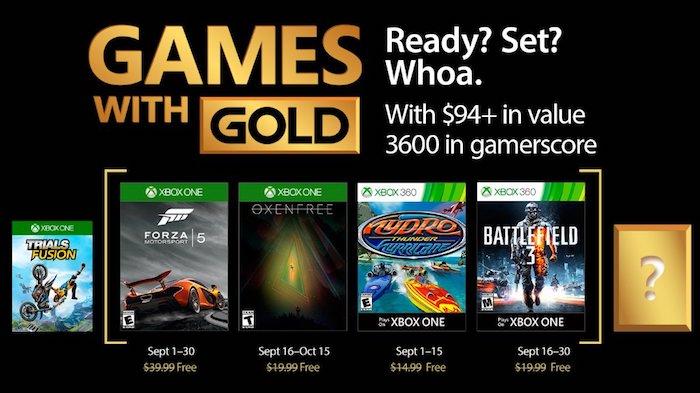 Xbox Gold Jeux Offerts Septembre 2017