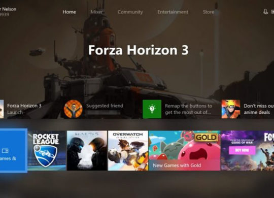 Xbox one new interface