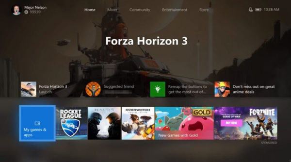 Xbox One New Interface 600x334