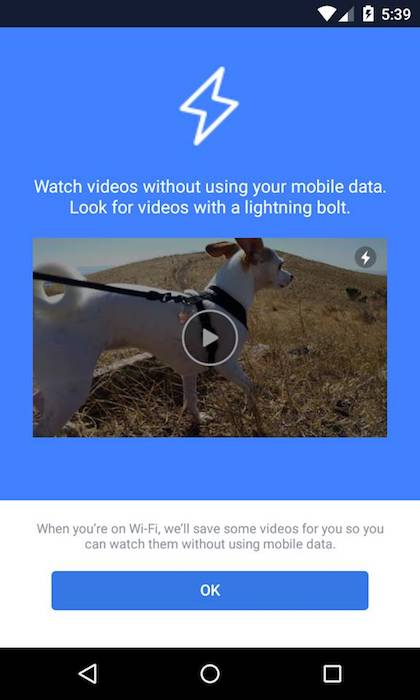 Facebook Instant Videos Application Android