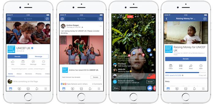 Facebook Outils Don Caritatif