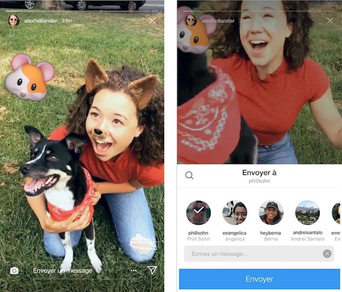 Instagram Stories Partage Prive Direct
