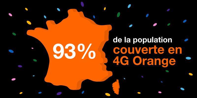 Orange Couverture 4G 93 Pour Cent