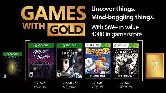 Xbox Live Jeux Offerts Octobre 2017