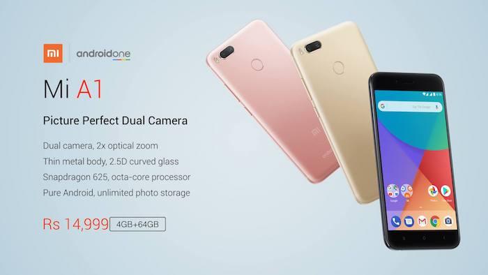 Xiaomi Mi A1 Avant Arriere