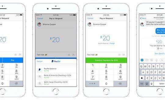 Envoi Argent PayPal via Facebook Messenger