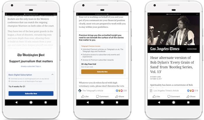 Facebook Articles Payants Abonnements