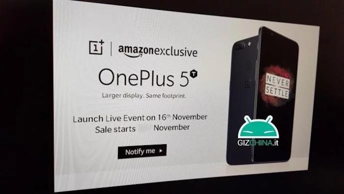 Fuite OnePlus 5T Date