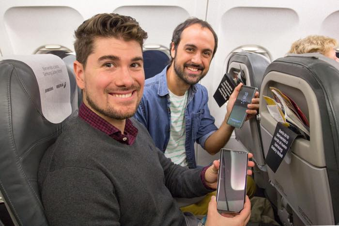 Galaxy Note 8 Gratuit Passagers Avion 2