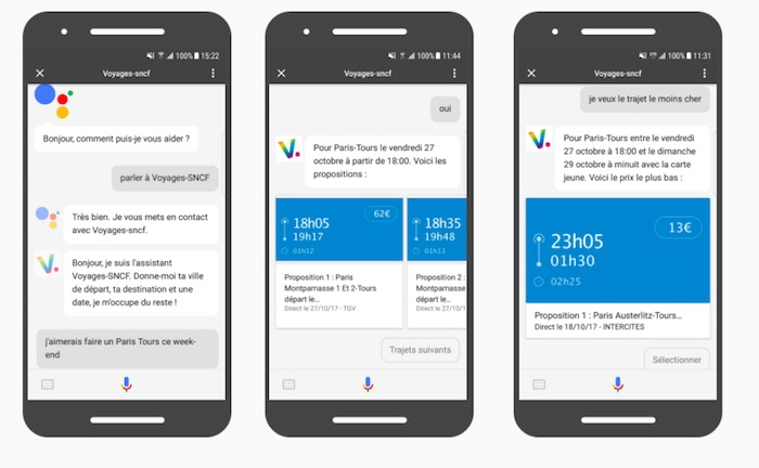 Google Assistant Actions On Google Voyages SNCF