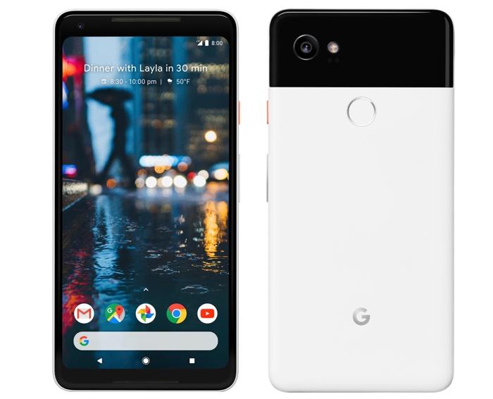 Google Pixel 2 XL Avant Arriere Officiel Blanc Noir
