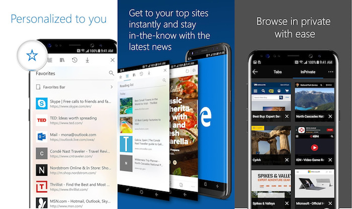 Microsoft Edge Application Android