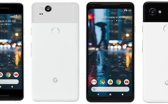 Pixel 2 et Pixel 2 XL Officiel Avant Arriere
