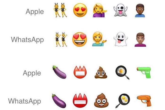 WhatsApp Nouveaux Emojis Comparaison Apple