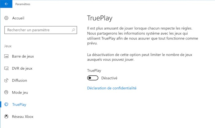 Windows 10 TruePlay