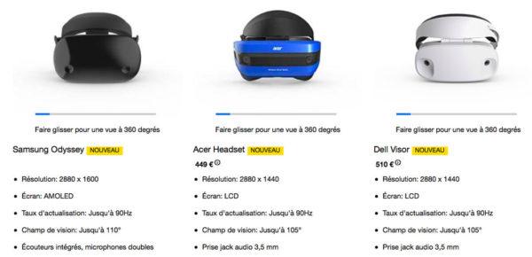 Casque VR AR Windows 600x290