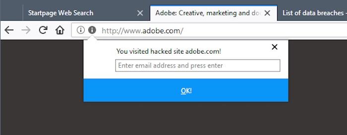 Alerte Firefox Site Pirate