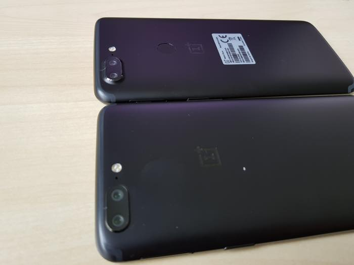 Arriere OnePlus 5 Vs OnePlus 5T