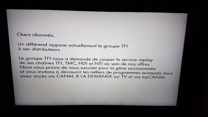 Blocage Replay TF1 Par Canal