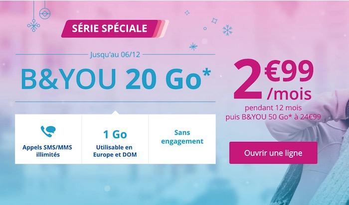 Bouygues Promo Forfait Novembre 2017