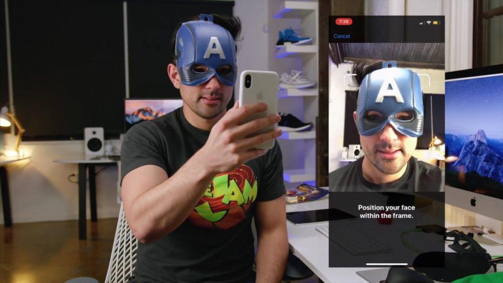 Face ID IPhone X Masque Captain America 1200x675 1024x576