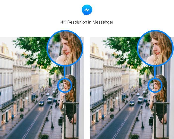 Facebook Messenger Envoi Photos 4K 2